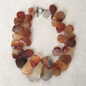 Choker / necklace made with stones, gorgeous!